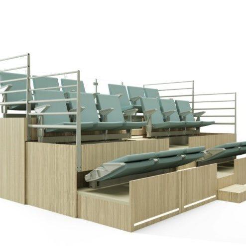 tribunes t lescopiques amm am nagement. Black Bedroom Furniture Sets. Home Design Ideas
