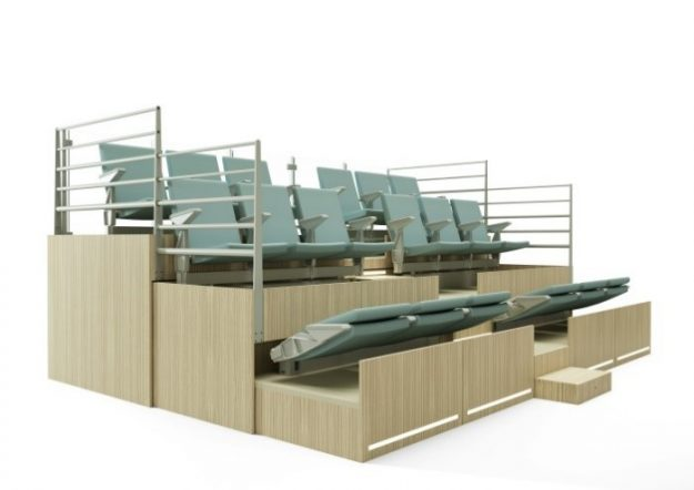 tribunes fixes et t l scopiques amm am nagement. Black Bedroom Furniture Sets. Home Design Ideas